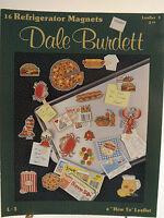 "Dale Burdett Cross Stitch Pattern Leaflet ""16 Refrigerator Magnets""  1988"