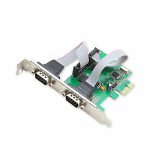 PCI-E Express to Dual Serial DB9 RS232 RS-232 2-Port Controller Utility Card Hot
