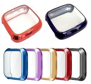 For Fitbit Versa 1 Gen Watch 3D Full Cover Screen Protector TPU Case Bumper