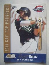 BRYCE BRENTZ RARE RC 2011 RED SOX SAL Top Prospect baseball card PAWTUCKET topps