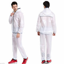 Shiny wet look glanz pvc nylon track suit sport mens XXL jacket pants see