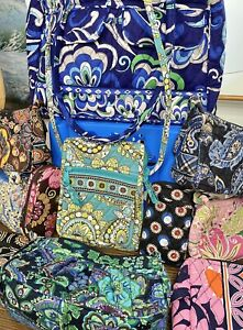VERA BRADLEY LOT: Purses, Bags, Wallet, Cosmetic Bag, Eyeglasses Case, Handbag