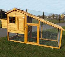 LARGE CHICKEN COOP RUN HEN HOUSE POULTRY ARK HOME NEST BOX COUP COOPS 3190WXR