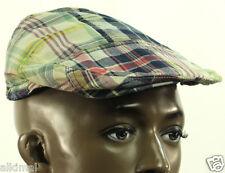 New Polo Ralph Lauren Madras Plaid Cotton Driving Newsboy Cap Hat S / M