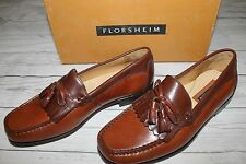 Florsheim Brown Leather Kiltie Tassle Loafers 8D (medium width) IN ORIGINAL BOX