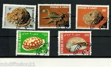 1979/80 - 5X TIMBRES OBLIT.///COQUILLAGES//DJIBOUTI  Y/T:512/514/521/522