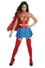 Fancy Dress Costume ~ Sexy Wonder Woman / Superhero Corset Ladies Size 6-18