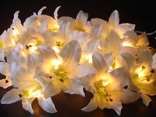 White Lily Flower Fairy Light 3M+ 20 Bulbs And Flowers.