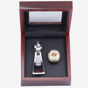 Tampa Bay Buccaneers Championship Ring Set and Trophy Set with Display  Box