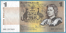 Australian 1982 $1 One Dollar Johnston Stone Note DHS297969