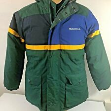 NAUTICA  Duck Down Puffer Coat Jacket hooded Spell Out Womens Size XL