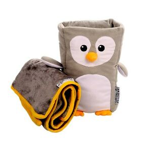 Kids Travel Pillow Neck Support ArmrestBuddy Cushion And Children's Soft Blanket