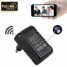 HD 1080P P2P WiFi Hidden Camera Adapter Wall AC Plug Charger Spy IP Camera