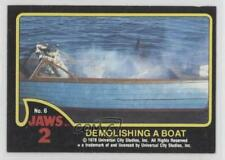 1978 Topps Jaws 2 #6 Demolishing a Boat Non-Sports Card 0c4