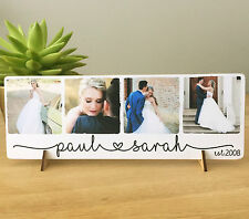 11x4'' personalised love photo quote plaque wedding valentines anniversary NEW