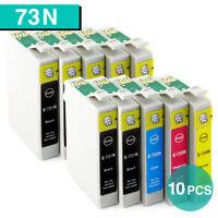 10x Ink Cartridges T0731 73N for Epson TX105 TX100 TX410 NX220 CX4900 Printer
