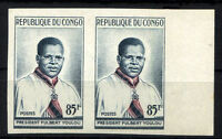 FRANCE CONGO - Yv 138 pair imperforate MNH