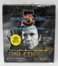 Babylon 5 CCG Psi-Corps Edition Booster Box 24 Packs 8 Cards Each Sealed Worn