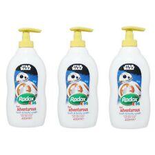 3 x Radox Kids Star Wars Bath & Body Wash 400ml Apple Scent Childrens Mild