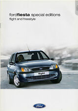 Ford Fiesta Flight & Freestyle Limited Edition 2000-01 UK Market Sales Brochure