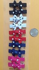 small girl hair clip pin bow Barrette ribbon TODDLER Dog 10