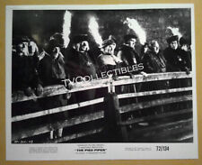 8x10 Photo~ THE PIED PIPER ~1972 ~Donald Pleasence ~John Hurt ~Fire torches