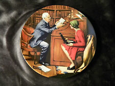Norman Rockwell 1986 The Professor Plate Knowles China