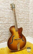 Vintage 1960 Hofner President Brunette Acoustic Archtop Hollow Body Guitar #371