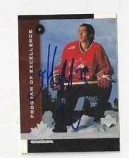 1998 Upper Deck Autographed Hockey Card Mike Riebeiro Team Canada