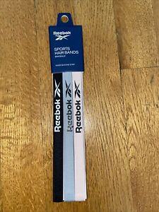 Reebok Unisex Antislip Sports Headband Hairband Black Pink & Gray OSFM GYM Bands