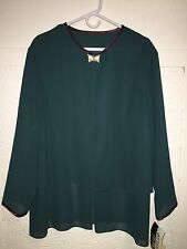 AFTER DARK Women's Dressy Over Blouse NWT ($170) 22WP Jewel Clasp Kj 070916