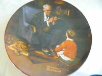 "Norman Rockwell,""The Tycoon"",Collector Plate"