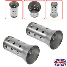 2X Universal 51mm Motorcycle Exhaust Muffler Removable Silencer Can Baffle UK