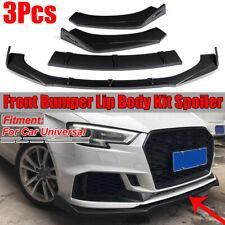 Carbon Fiber Look Universal Front Bumper Lip Body Kit Spoiler For BMW Honda Benz