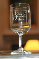 Silverado Vineyards Wine Glass Napa Valley Ron and Diane Disney Miller Winery