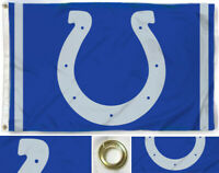 Indianapolis Colts Flag Blue ~ Large 3'X5' ~ NFL Banner ~ FREE SHIPPING