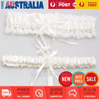 Ivory White Wedding Bridal Garter Set Lace Floral Satin Tossing Keep & Throw AU