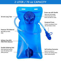 Water Bladder Bag 2L Backpack Hydration System Camelback Pack for Hiking Camping