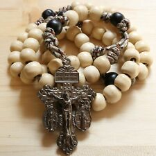 Rosary Camo Paracord Natural Wood  Wearable Rope Cord Catholic Rosario