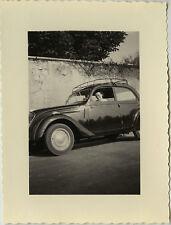PHOTO ANCIENNE - VINTAGE SNAPSHOT - VOITURE AUTOMOBILE GALERIE FEMME - CAR