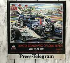 Vintage LONG BEACH Toyota Grand Prix Racing 1992 Poster 23x23 Promotion