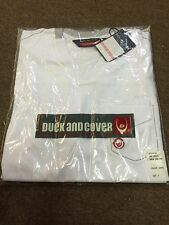 Duck & Cover Dreyton Pocket V-Neck Tee/White - Large