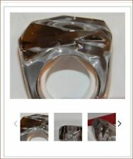 Baccarat CRYSTAL Jewellery Rock RING 57 SIZE 8 MIST French Art Glass MINT BOX