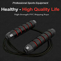 Skipping Rope Tangle-Free with Ball Bearings Rapids Speed Jump Rope Cable