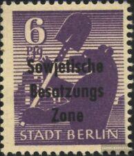 Sowjetische Zone (All.Bes.) 201wb zt, mit Trockengummi postfrisch 1948 SBZ-Aufdr