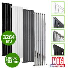 NRG 1600x408mm Vertical Flat Panel Chrome Central Heating Radiator