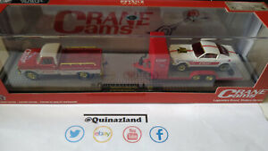 M2 Machines Auto Haulers '69 Ford F-100 Ranger & '96 Ford Mustang Chase (cart)