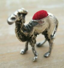Sweet Solid Silver 925 Miniature Camel Dromedary Pin Cushion