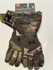 Under Armour Insulator Hunting GORE-TEX Real Tree Camo Gloves Medium 1301284 946