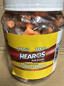 HEAROS 100 Pair Ultimate Softness Ear Plugs Brand New